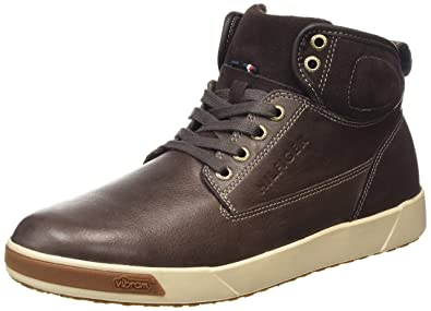 8902f934f2c8a Tommy Hilfiger Men s MAVEREK 3CV High-top Trainers Brown Size  11 ...
