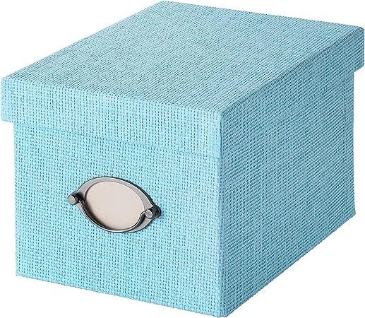 SIU Caja de Almacenamiento con Tapa Azul, tamaño montado, Longitud: 25 cm, Ancho: 18 cm, Altura: 15 cm, Material ...