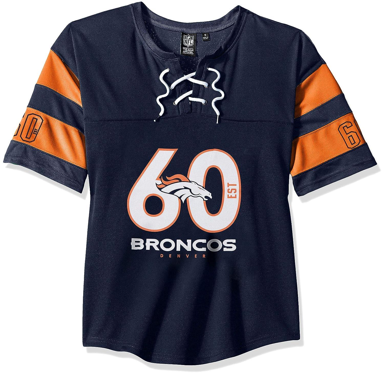 NFL Denver Broncos Ultra Game Womens PENALTY BOX JERSEY Medium Navy