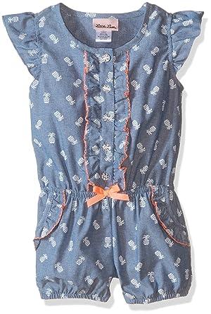 df17b620c Amazon.com  Little Lass Girls  Romper Pineapple Print  Clothing