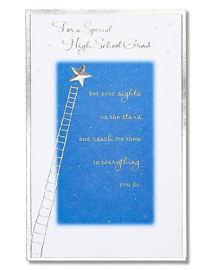 Amazon Com American Greetings High School Graduation Card With