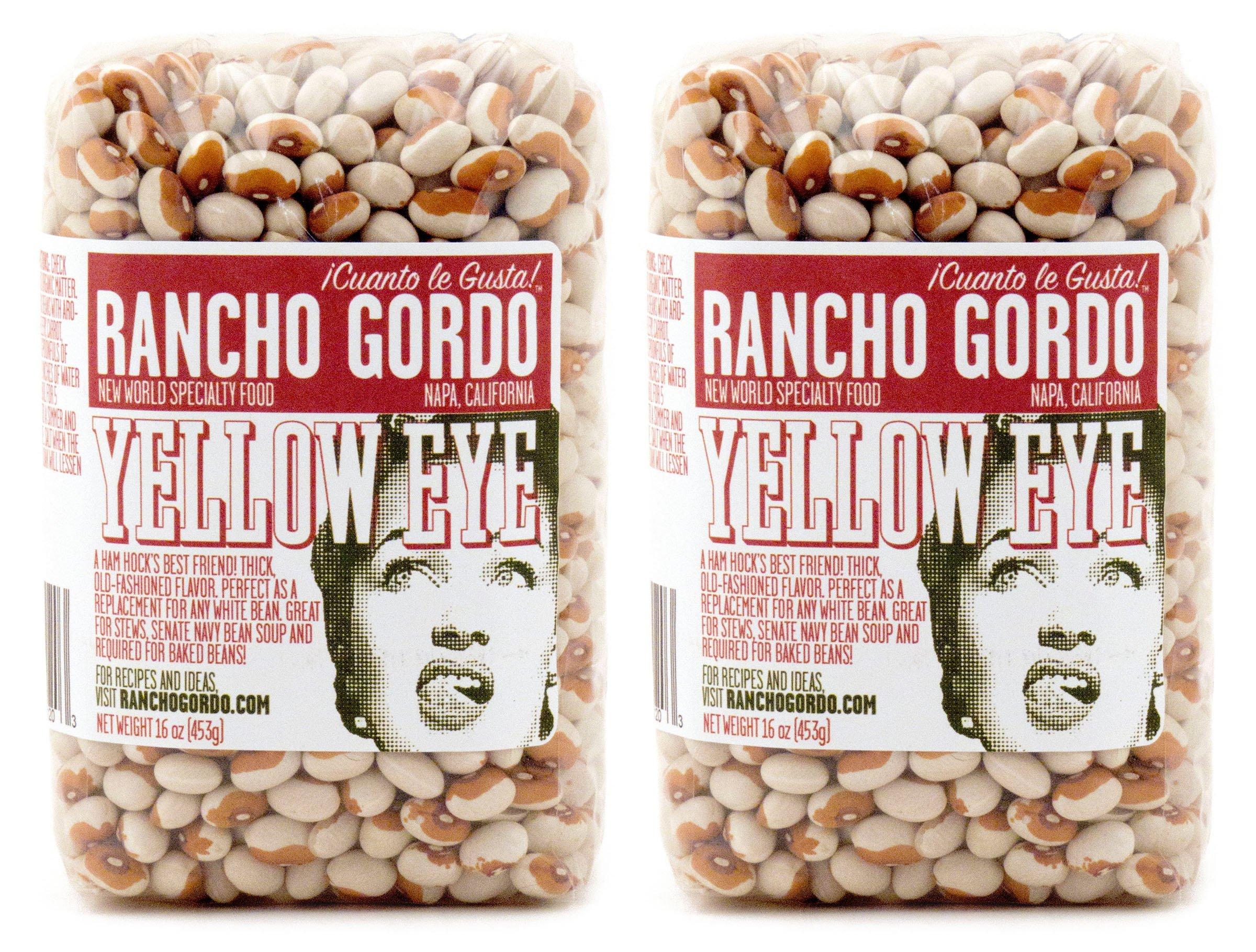 Rancho Gordo Heirloom Yellow Eye Beans 16 oz each (2-Pack)