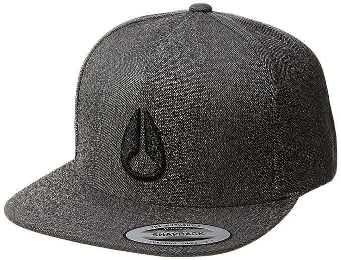 9abc5c2c8 Nixon Men's Simon Snapback Hat, Dark Gray Heather, One Size fits All ...