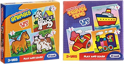 Frank Animals Puzzle & Travel Time Combo