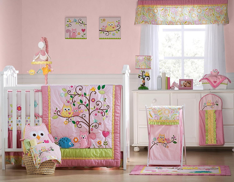 Owl baby bedding - Amazon Com Kids Line Dena Happi Tree 6 Piece Crib Set Pink Discontinued By Manufacturer Crib Bedding Sets Baby