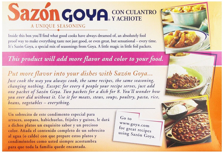 What are the ingredients in Goya Sazon seasoning?
