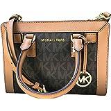 Michael Kors Dillon Monogram Small Satchel /Crossbody Bag Brown