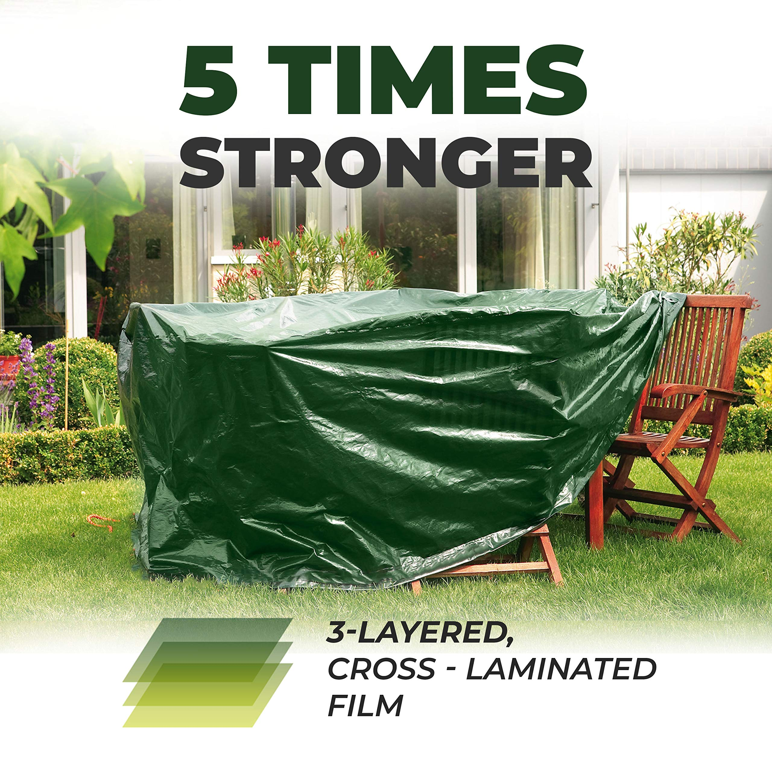 Bio Green RX-90-15x20-G Rainexo Waterproof Strong Tarp 90 GSM Cross Laminated, 15x20, Green by Bio Green