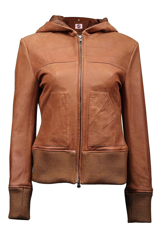 Takitop Women's Genuine Real Leather Biker Jacket Made of Lambskin, Sheepskin TT-WJ1713