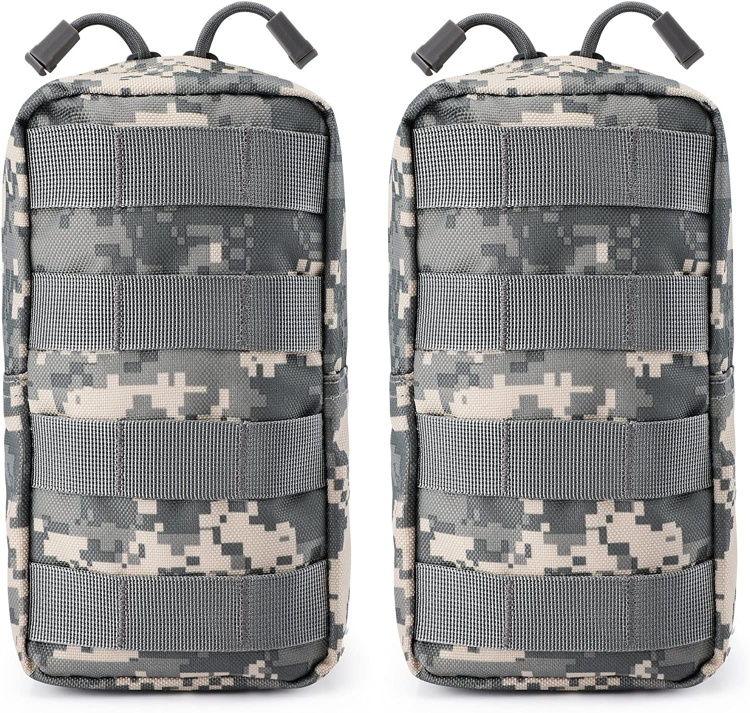 Azarxis 2 Pack Molle Tactical Pouch Multi-Purpose Military Admin EDC Utility Pouch Backpack Accessories Gadget Tool Gear Organizer for Hiking Camping Outdoor