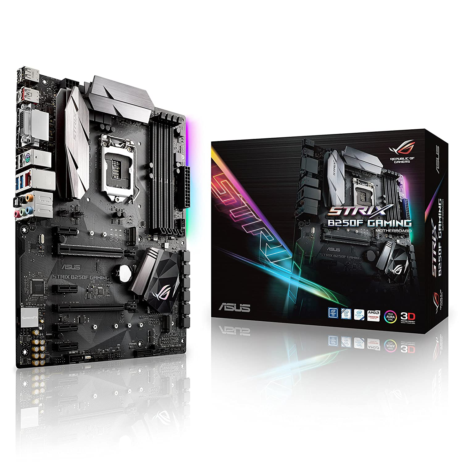 ASUS ROG STRIX B250F GAMING LGA1151 DDR4 DP HDMI DVI M.2 ATX With USB 3.1 Motherboard