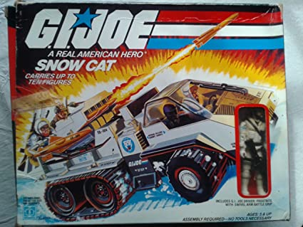 Amazon com: Vintage GI Joe Snowcat Snow Cat Vehicle with