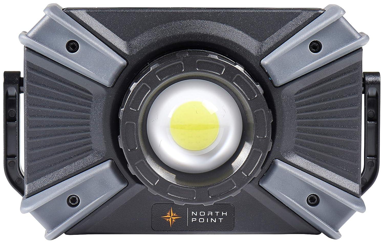 LED Baustrahler mit Akku 4400mAh aufladbare Arbeitsleuchte flexibel & dimmbar ideal fü r Baustelle Werkstatt Garage Arbeitslampe Arbeitsscheinwerfer Northpoint NP-AS-8810