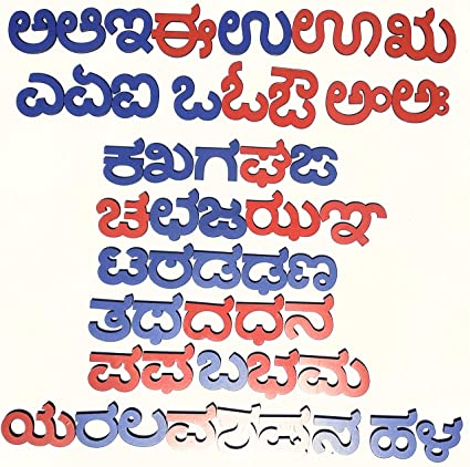 Cryo Craft Wooden Magnetic Kannada Alphabets (Multicolour)