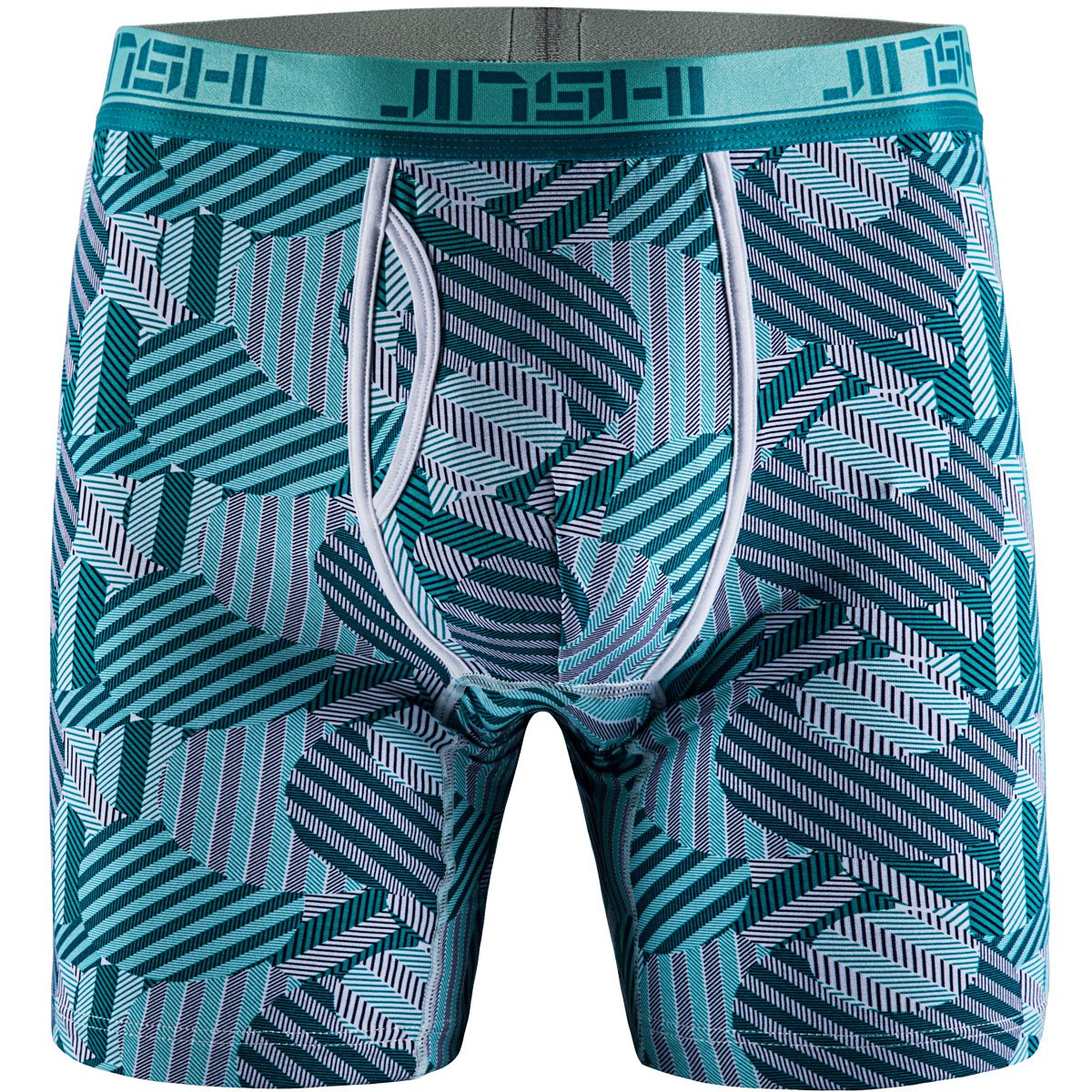 JINSHI Men's Underwear Bamboo Performance Long Boxer Briefs JINSHIYHS