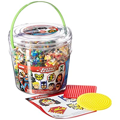 Perler Beads Justice League Fuse Bead Bucket Craft Activity Kit, 8504 pcs: Toys & Games