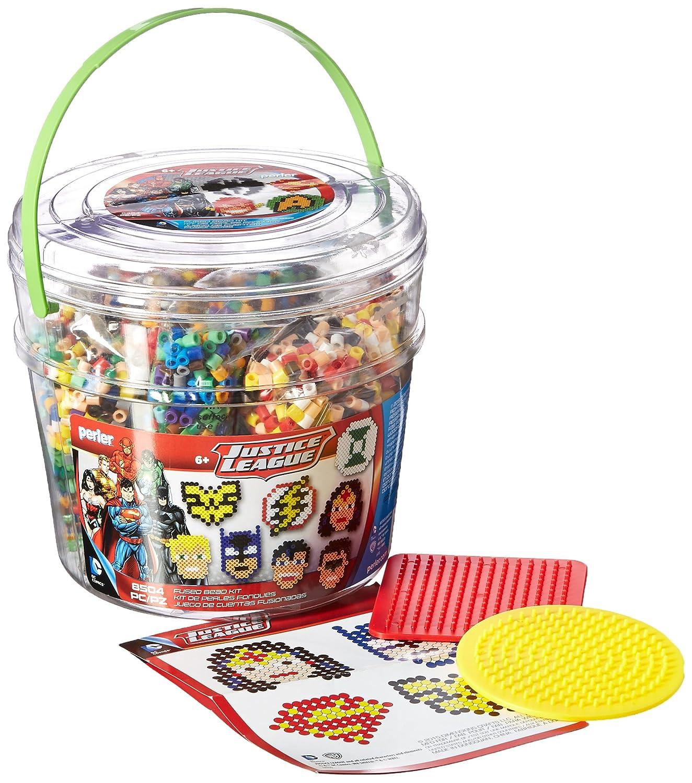 8504 pcs 80-42929 Perler Beads Justice League Fuse Bead Bucket Craft Activity Kit