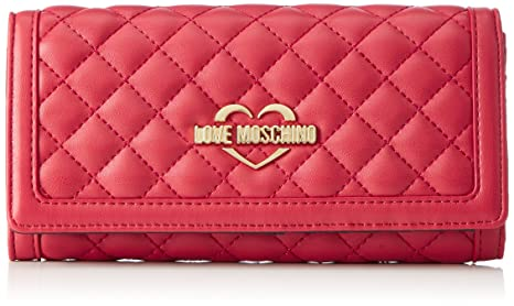 0bf52c8c77 Buy Love Moschino Portafogli Nappa Pu Trap.Rosso, Womenâ€TMS Clutch, Rot -  Red, 10X20X3 cm - Wxhxd Online at Low Prices in India - Amazon.in