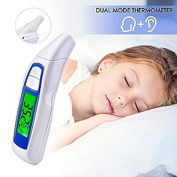 Amazon.com: Termómetro digital para oreja y frente de ...