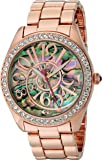 Betsey Johnson Women's Quartz Metal and Alloy Automatic Watch, Color:Rose Gold-Toned (Model: BJ00048-147)