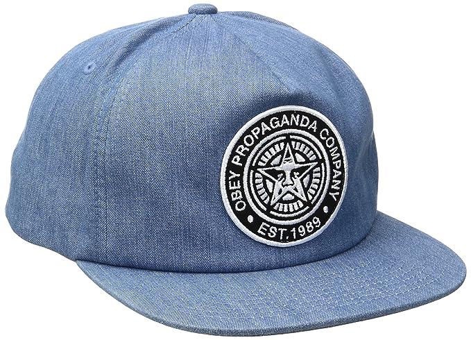 fb7caf6e8f7b9c Obey Men's Established 89 Snapback Hat, Denim, One Size: Amazon.co ...
