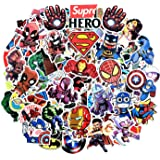 Superhero Stickers for Hydro Flask, 100 Pcs Waterproof Vinyl Stickers for Laptop, Luggage, Skateboard, Water Bottles, Bicycle, Guitar, Phone,Trendy Aesthetic Stickers for Kids, Teens (Style 2)