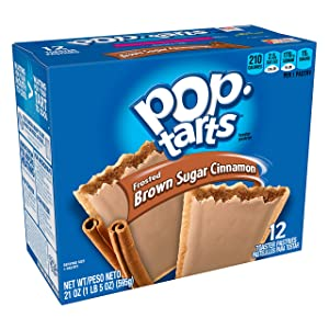 Kellogg's Pop-Tarts Frosted Brown Sugar Cinnamon - Toaster Pastries Breakfast for Kids (12 Count)