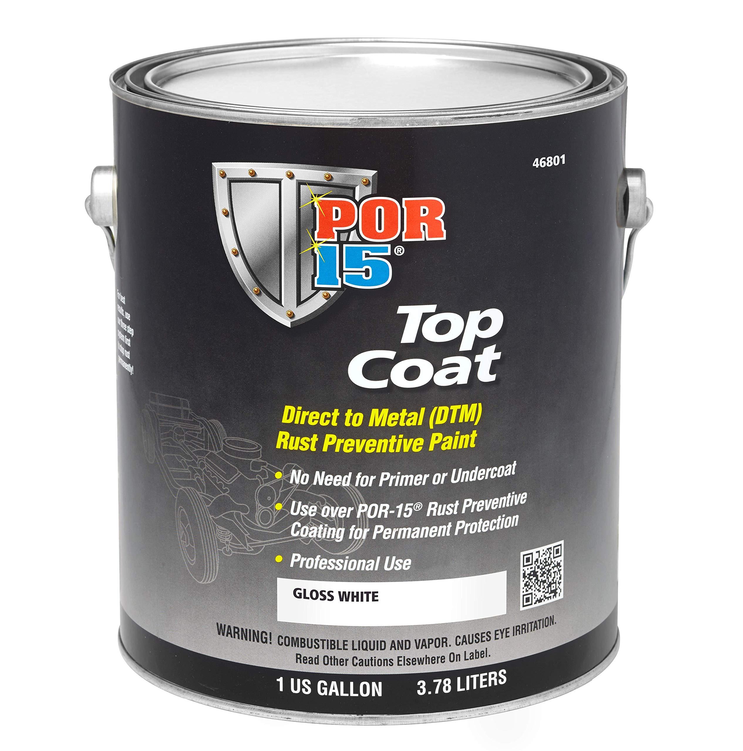 POR-15 46801 Top Coat Gloss White Paint, 128. Fluid_Ounces