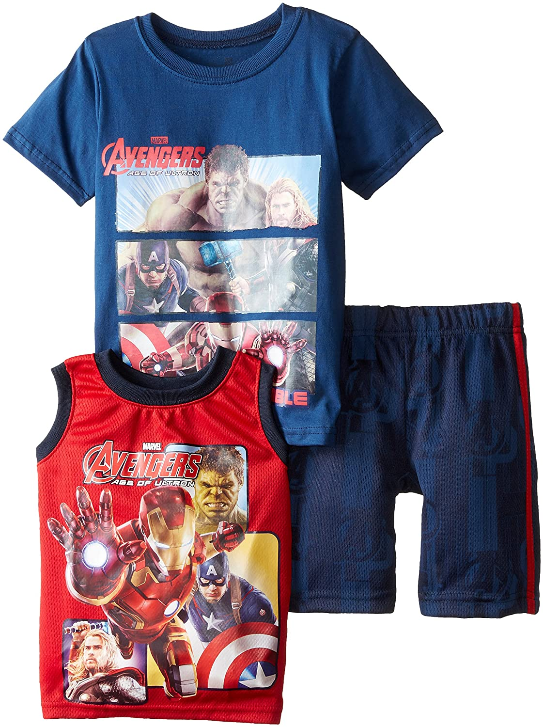 Marvel Boys' 3 Piece T-Shirt, Tank and Short Set CAN Marvel Boys 2-7 2MU8703