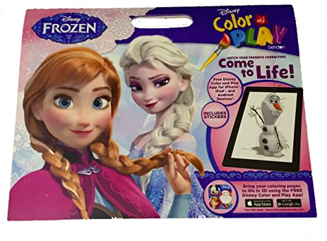 Disney Frozen Color And Play Super Activity Coloring Book Pad With Stickers