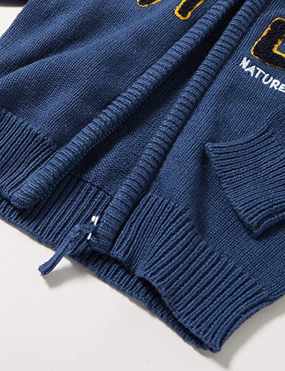 Blau Blue Seven Baby-Jungen Mini Strickjacke mit Stehkragen Sweatjacke Herstellergr/ö/ße: 86 Jeansblau Orig 544 ,