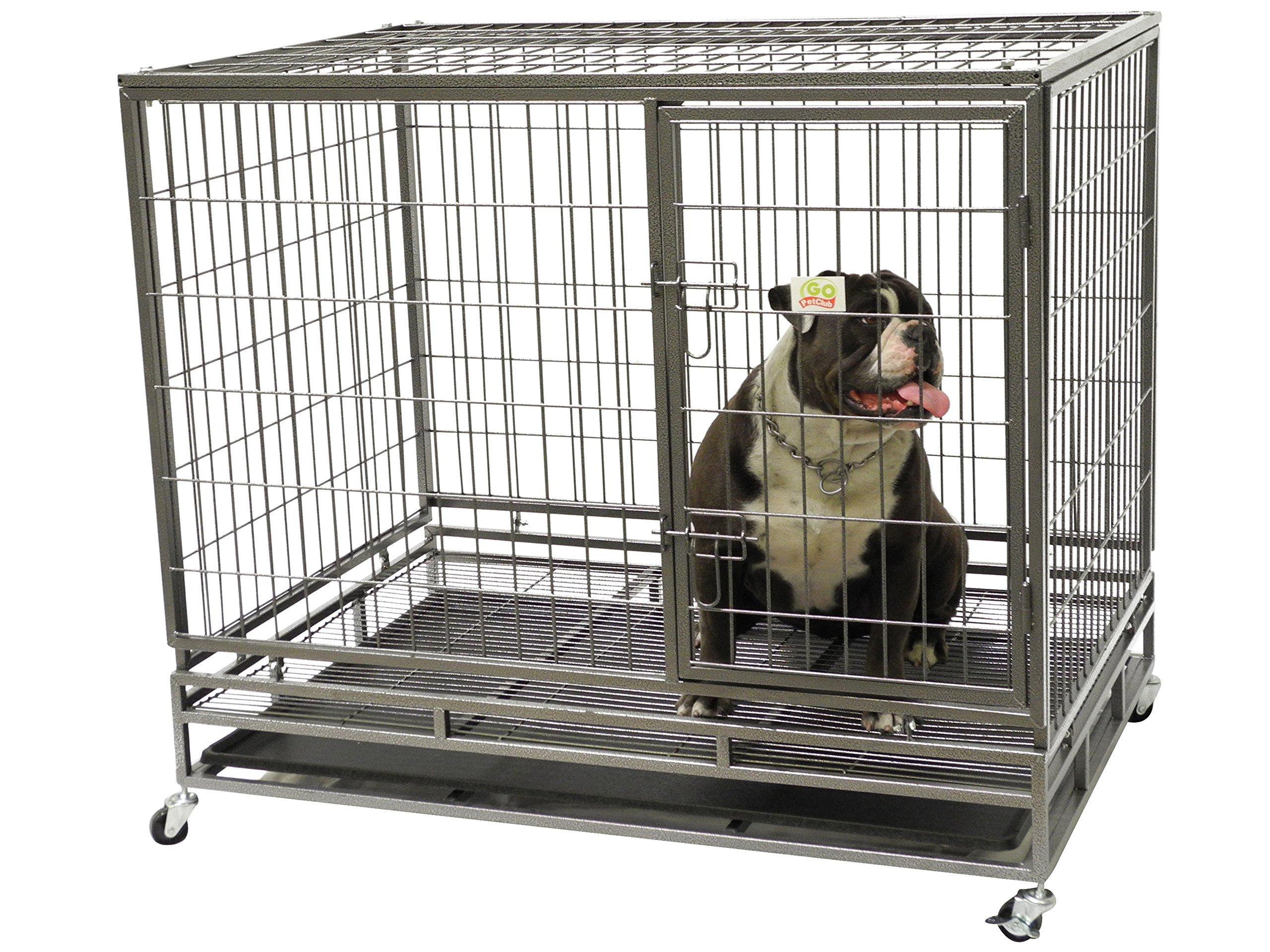 Go Pet Club Heavy Duty Metal Cage, 24''W x 28.75''H x 36.8''L
