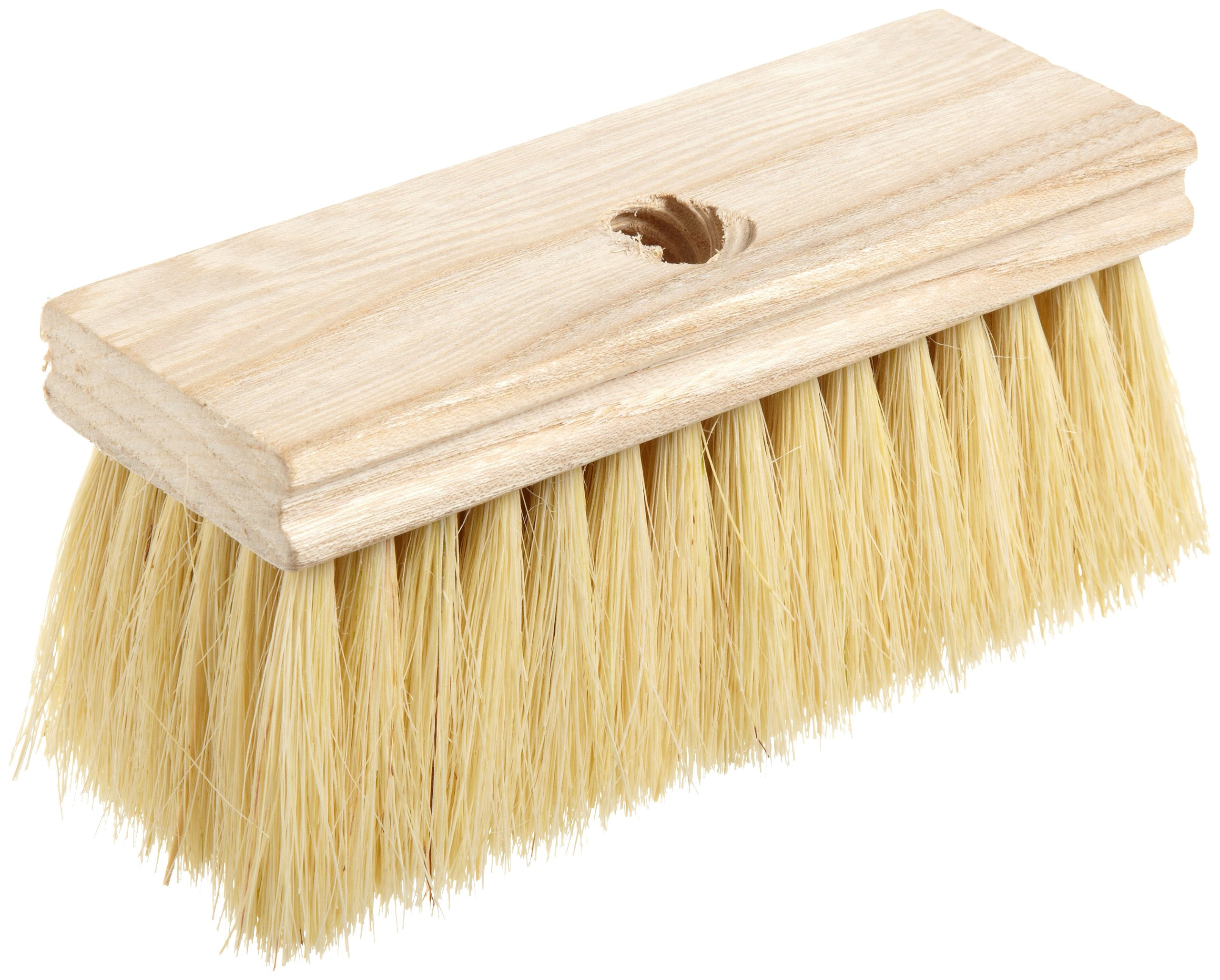 Roofers Brushes - white tampico roofers brush w/threaded [Set of 12]