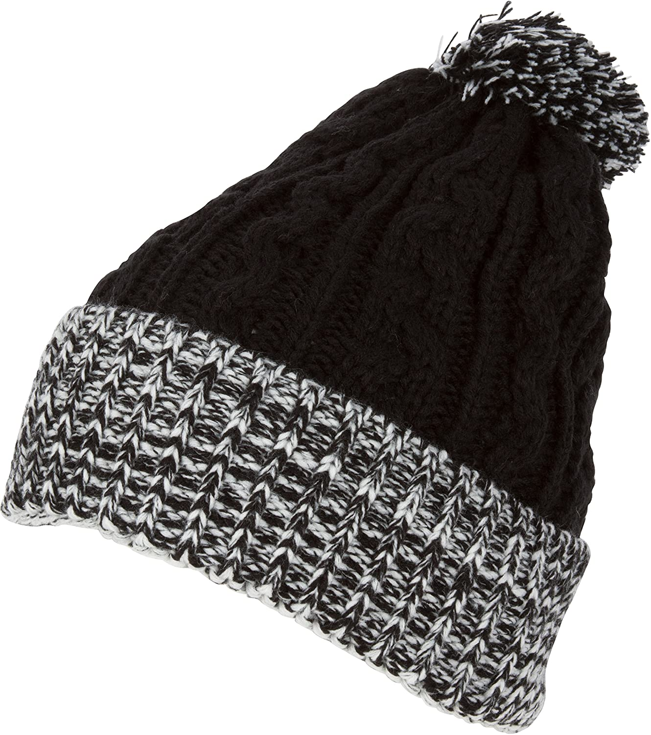 Sakkas CADK1516 - Effie Unisex Heather Multi Colored Pom Pom Knit Beanie Hat  - Black - OS at Amazon Women s Clothing store  5accda723be