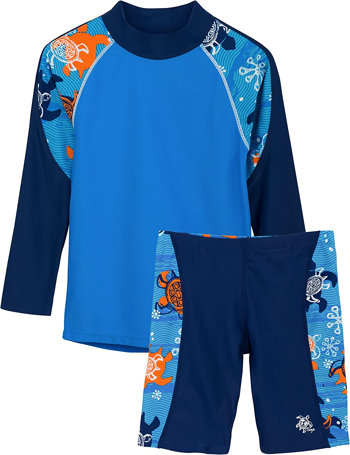 Protection UPF 50 Tuga Boys Two Piece Long Sleeve Swimsuit Set 2-14 Years
