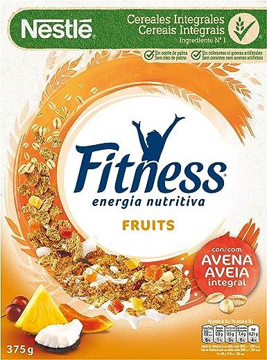 Cereales Nestlé Fitness Fruits - Copos de trigo integral, arroz y ...