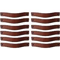 Brute Strength - Leren Handgrepen - Cognac - 12 stuks - 20 x 2,5 cm - incl. 3 kleuren schroeven per leren handvat voor…