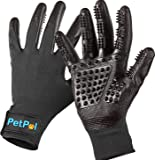 Pet Grooming Gloves [ LATEST DESIGN ] Pet Hair Remover - Gentle Deshedding Brush Glove Deshedder Tool - Efficient Pet Hair Removal Tool - Massage Brush For Dogs, Cats, Horses, State of The Art Comb