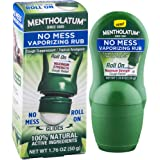 Mentholatum No Mess Vaporizing Rub with easy-to-use Roll On Applicator, 1.76 Ounce (50g) - 100% Natural Active…