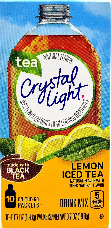 Crystal Light Lemon Iced Tea, 10 On-the-Go Packets (Pack of 4)