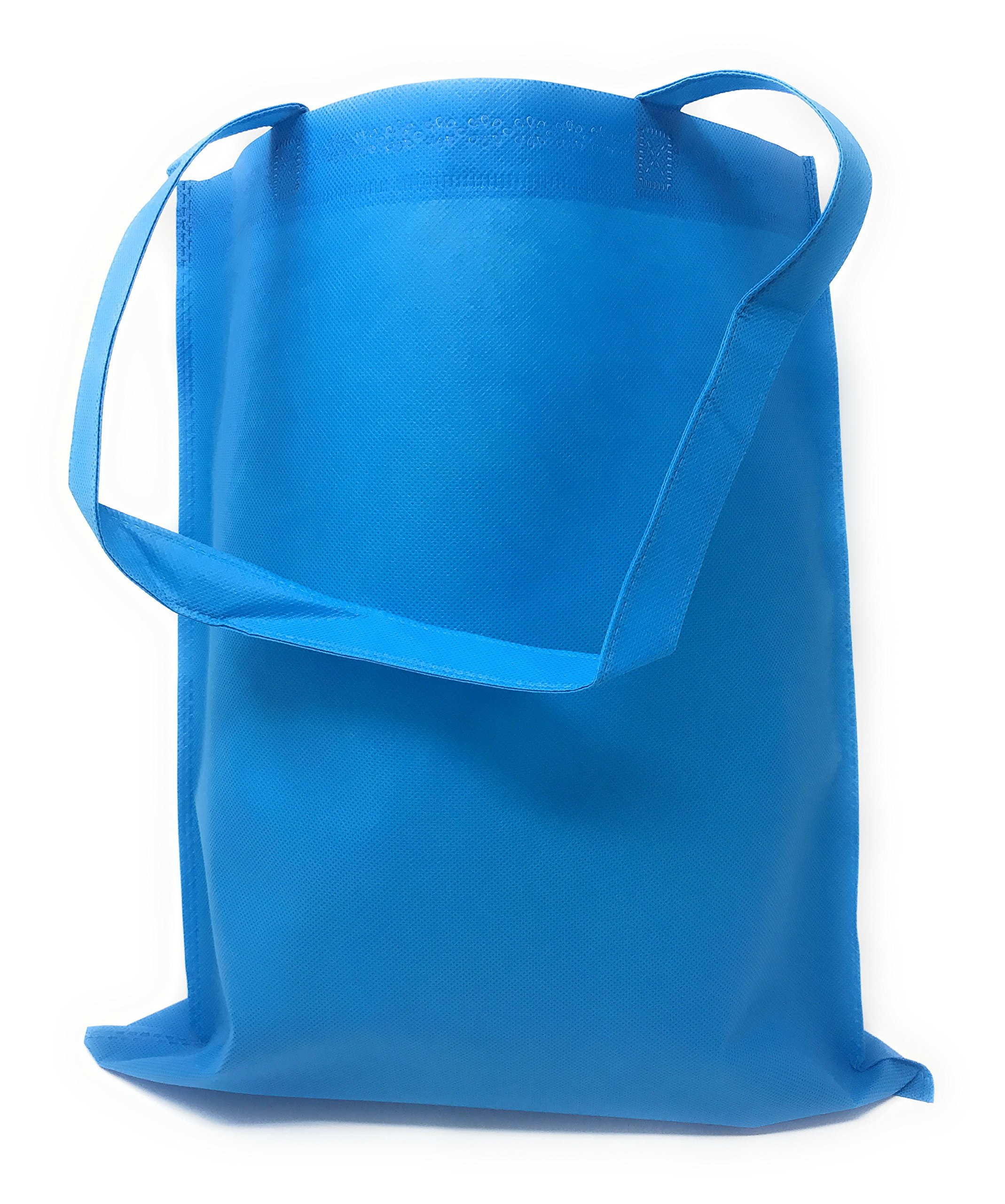 50 Bulk Tote Bag Mega Pack - Reusable Shopping Bags (Blue)