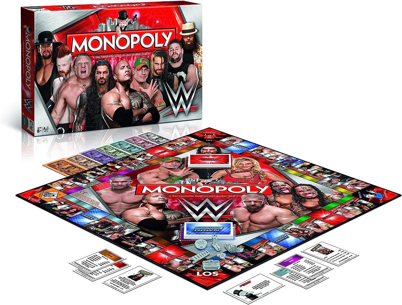 Winning Moves Juego de Mesa 44314 de Monopoly:Lucha Libre de la WWE: Amazon.es: Juguetes y juegos