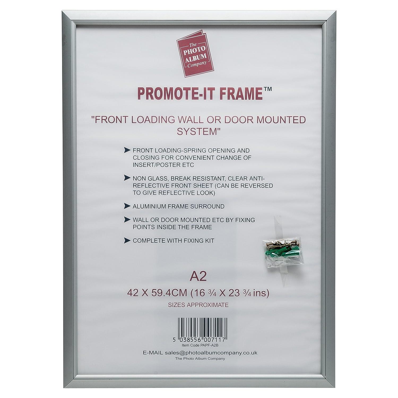 PAPFA2B Promote-it Silver Aluminium A2 (42x59cm) Poster Certificate ...