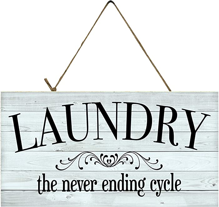 Twisted R Design Laundry Room Sign (Laundry Never Ending Cycle)