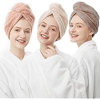 ELLEWIN Hair Towel Wrap 3 Pack, Microfiber Hair Drying Turban Towel for Women Kids Girls, Quick Dry Hair Towels for…
