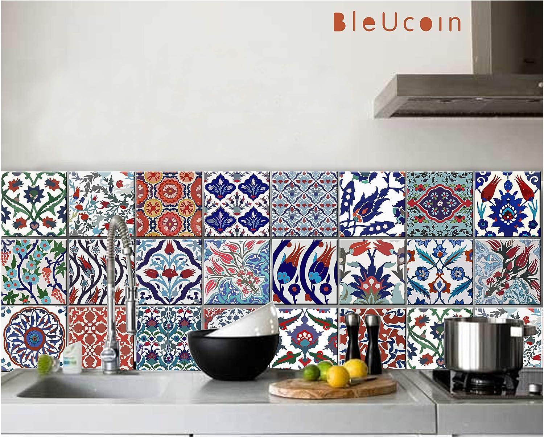 - Turkish Tile Stickers For Kitchen & Batroon Backsplash, Stair