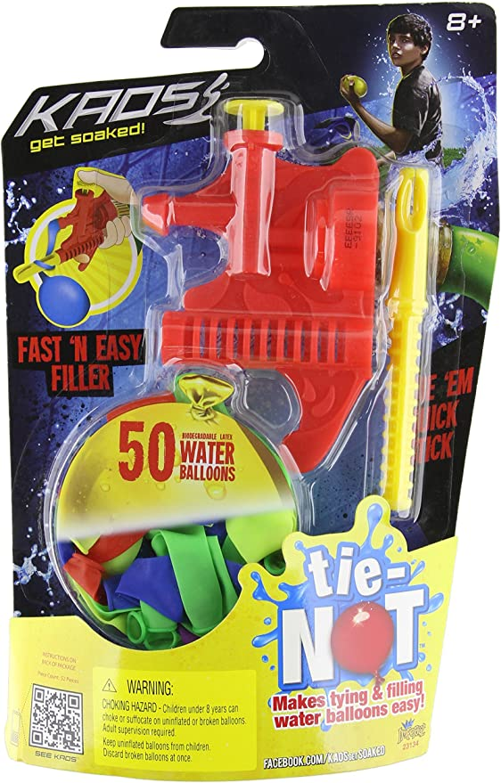 Tying Sticks 2 Pack Red//Blue Makes Tying Water Balloons Easy By Tie-Not knot