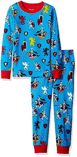 Hatley Medieval caballeros Boys larga pijama conjunto (todo sobre impresión) Azul azul 7 años