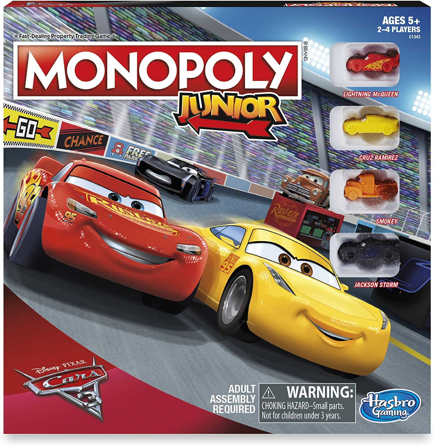 Amazon Com Cars 3 Monopoly Junior Board Game Toys Games