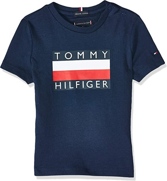 Tommy Hilfiger KB0KB05547 Camiseta niño: Amazon.es: Ropa y accesorios
